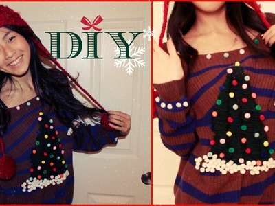 DIY Christmas Ugly Sweater | Cozy Tree + Ornaments How to