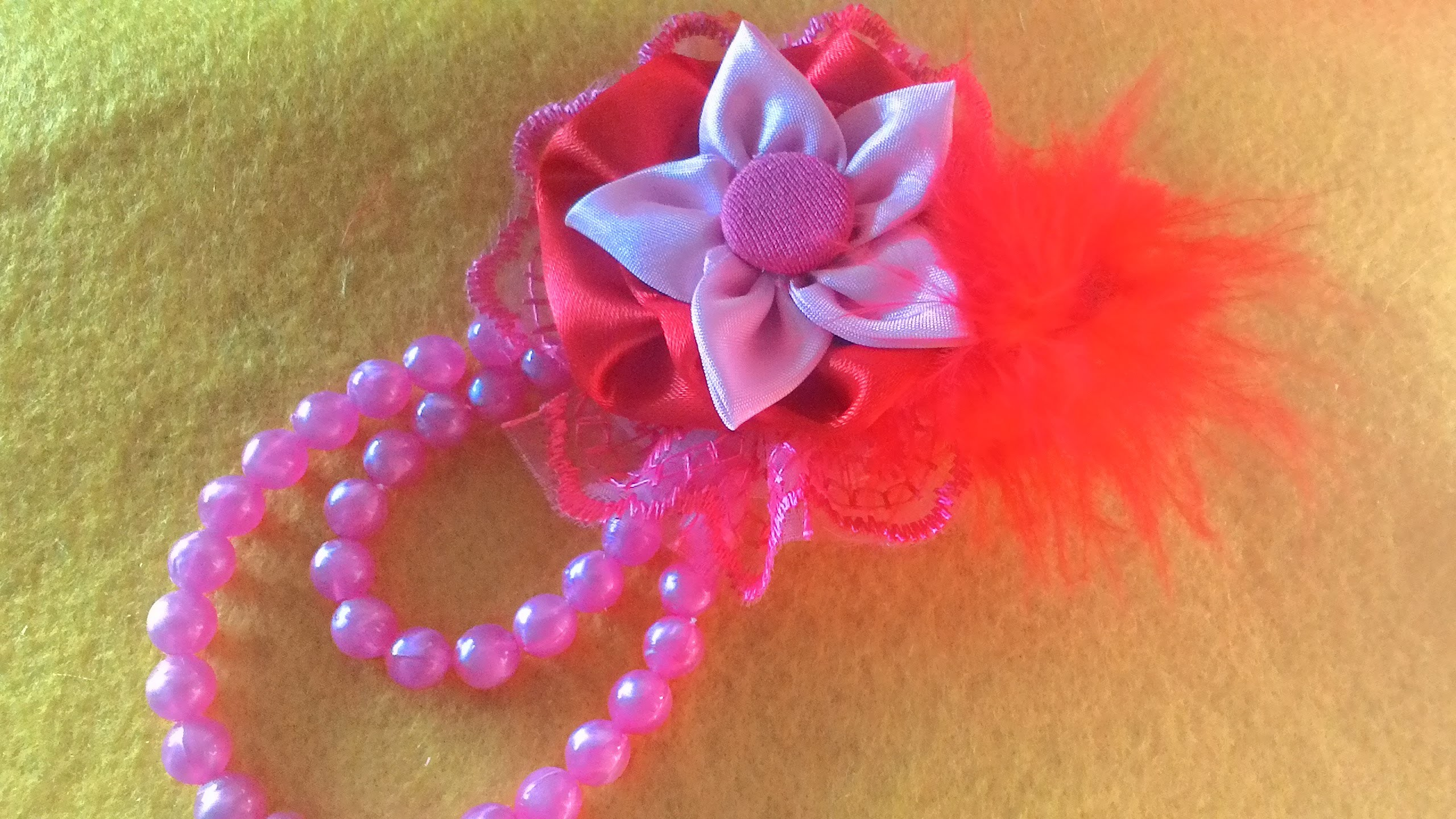 DIY craft flower - tutorial how to make a beautiful brooch