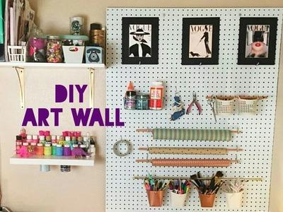 DIY Craft Wall Organization