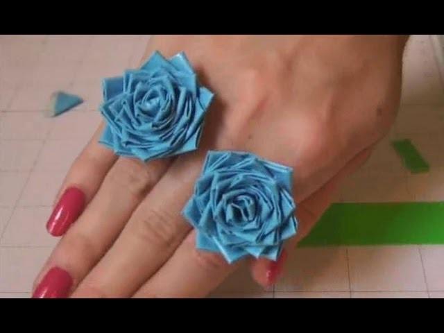 DIY: Duct Tape Rose Ring. Flower Ring