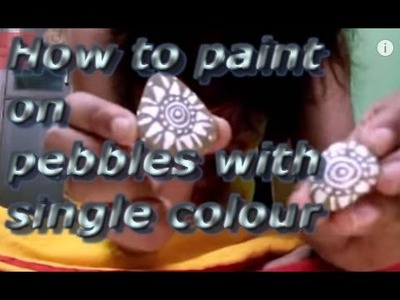 DIY| Easy and simple tutorial of pebble painting | Pebble craft