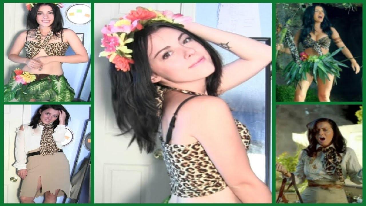 DIY Halloween Costume: 2 Katy Perry Roar Music Video Costumes, Hair & Makeup!!    LikeWowLala