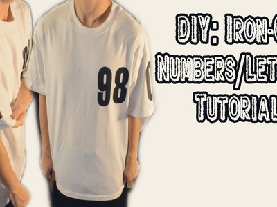 DIY: Iron-On Letters.Numbers Tutorial