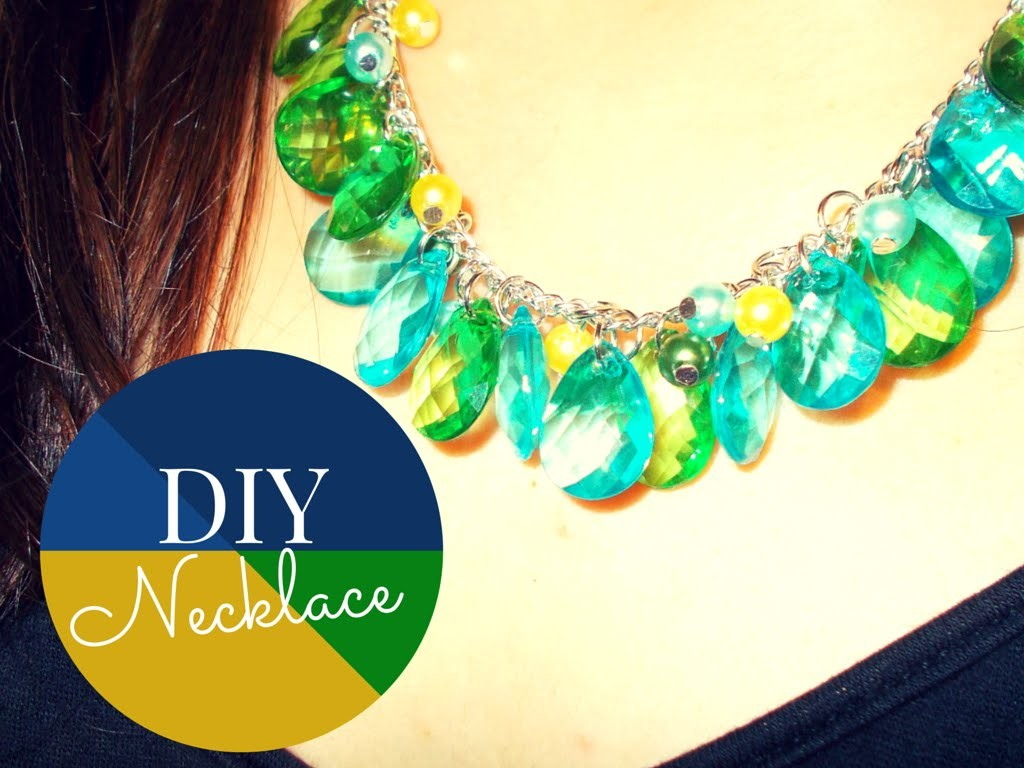DIY Necklace with Drop Pendants and Beads ~ Jewelry Making Tutorial (with PandaHall elements)