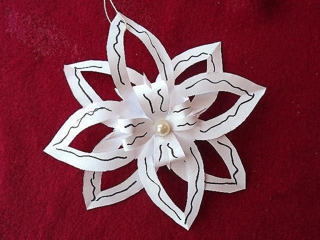 DIY paper SNOWFLAKE # 4, Easy cut out snowflake