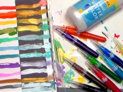 DIY Shimmer Pens {homemade wink of luna}