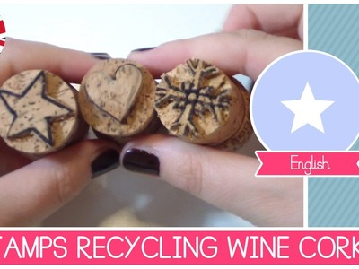 DIY Stamps made RECYCLING wine CORKS (and Christmas DIY decorated paper)
