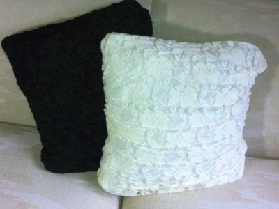 DIY Stylish Pillows! No Sewing Required :)