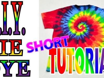 DIY Tie Dye Rainbow Spiral [Short Tutorial] Version 2
