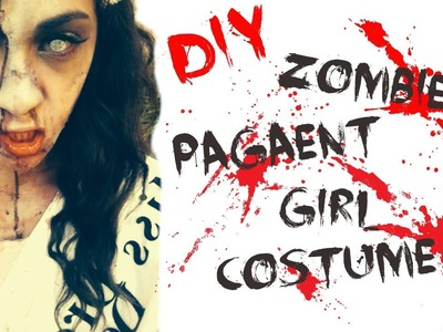 DIY Zombie Pageant Girl Costume♡ Hair, Makeup, & DIY Costume!