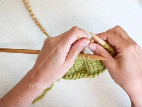 DROPS Knitting Tutorial: How to knit with multiple beads