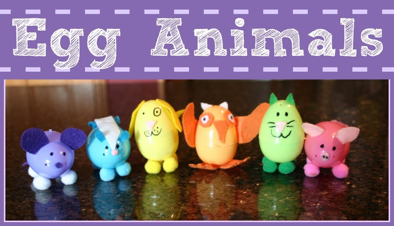 EASY EASTER CRAFT FOR KIDS ~ PLASTIC EGG ANIMALS