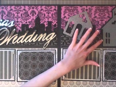 Faith Abigail Designs - Wedding Album Series: Vegas Wedding Double Page Scrapbook Layout