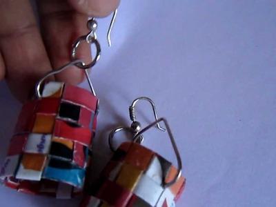 Handmade Paper Weaving Earrings