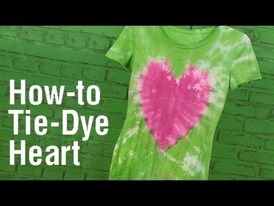 How-To Create a Heart Design Tie Dye T-Shirt!