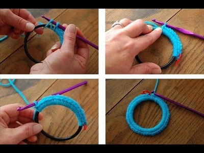 How to crochet a pic frame