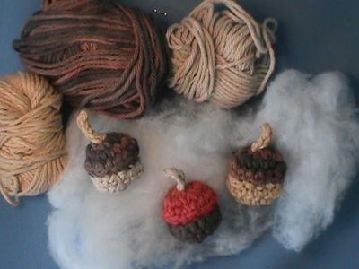 "How to Crochet ""Acorns""-From (Autumn Harvest Pattern)"