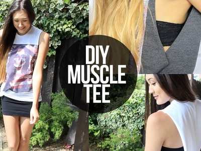 How To Cut A Muscle Tee | LaurDIY