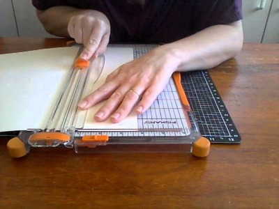 How to cut the middle out of your scrapbooking paper or cardstock