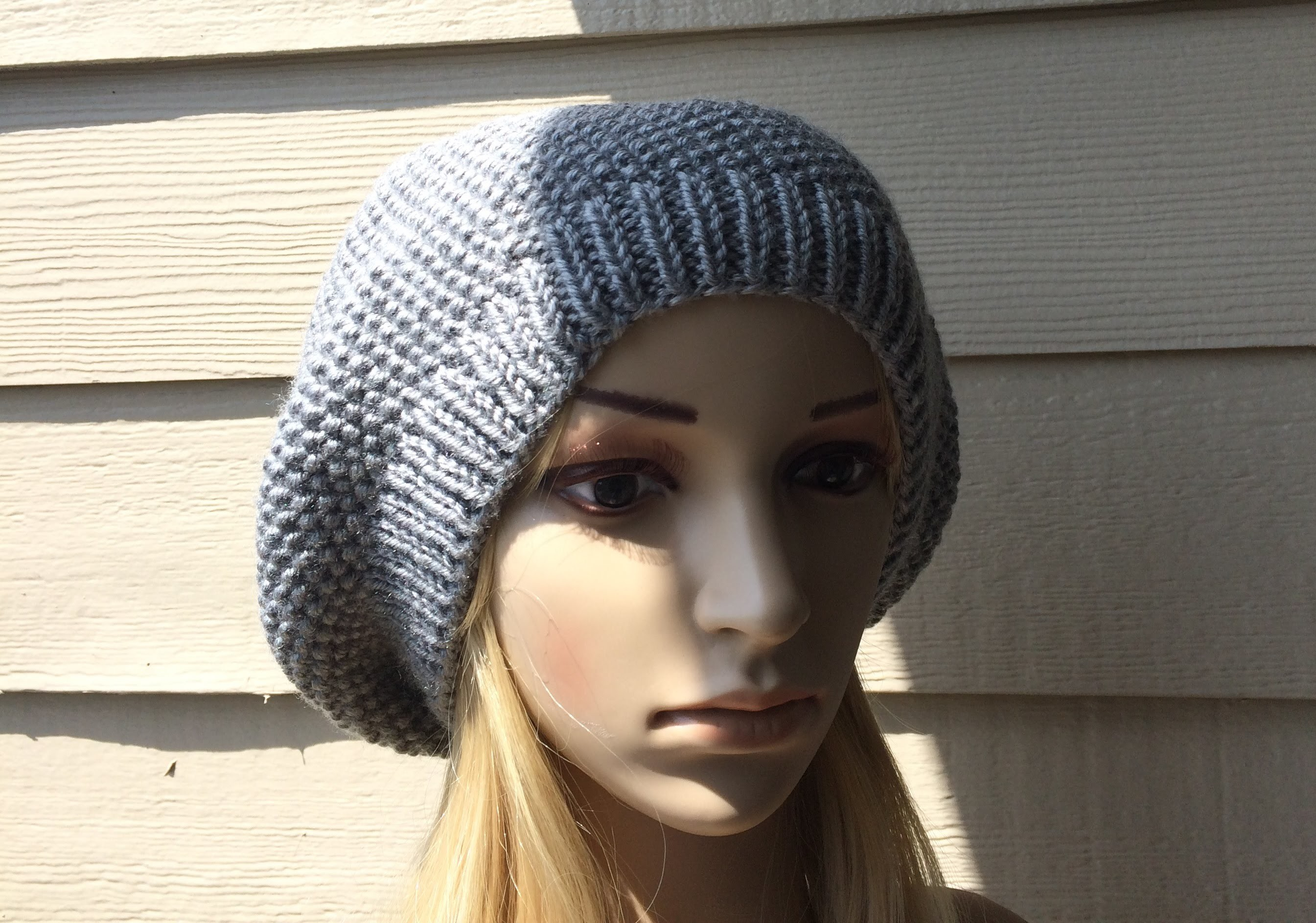 How To Knit A Slouchy Hat, Lilu's Knitting Corner video # 3