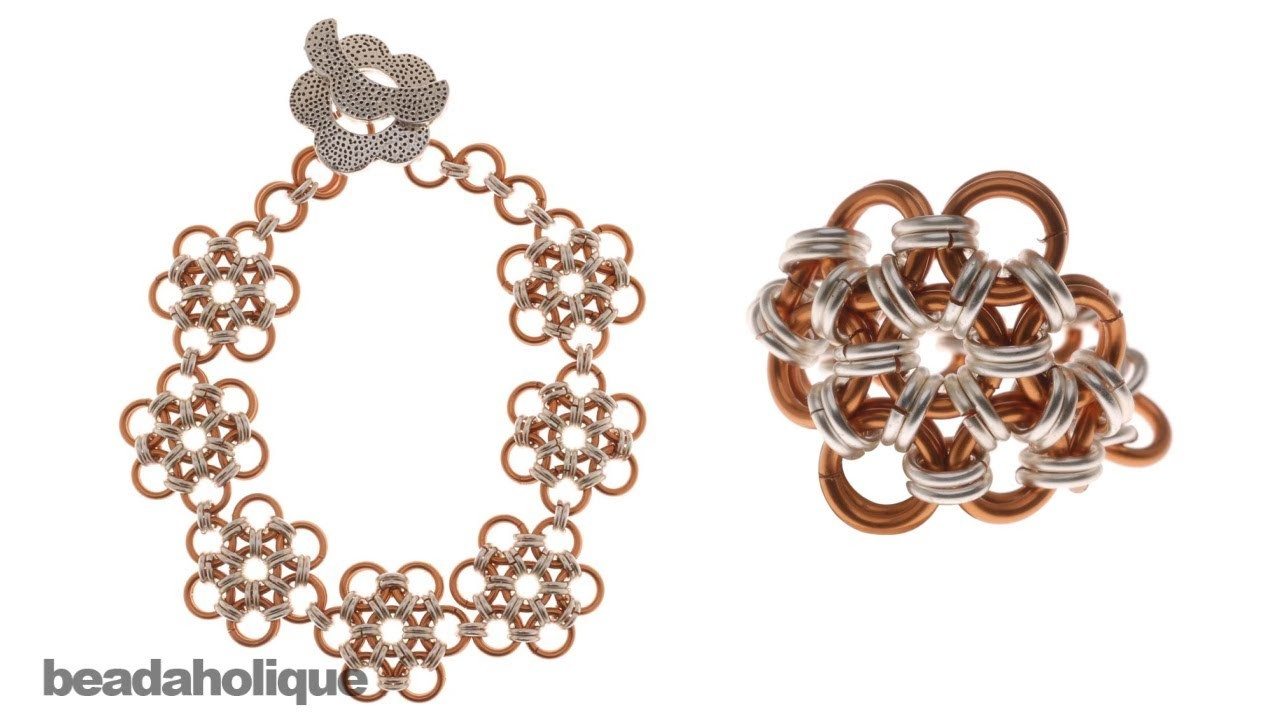 How to Make a Japanese 12-in-2 Chain Maille Bracelet and Ring