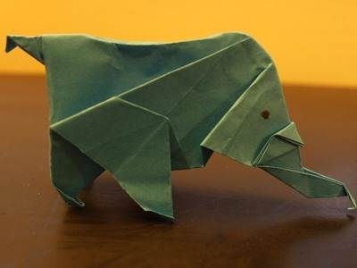 How to Make a Paper Animal (Elephant) - Origami