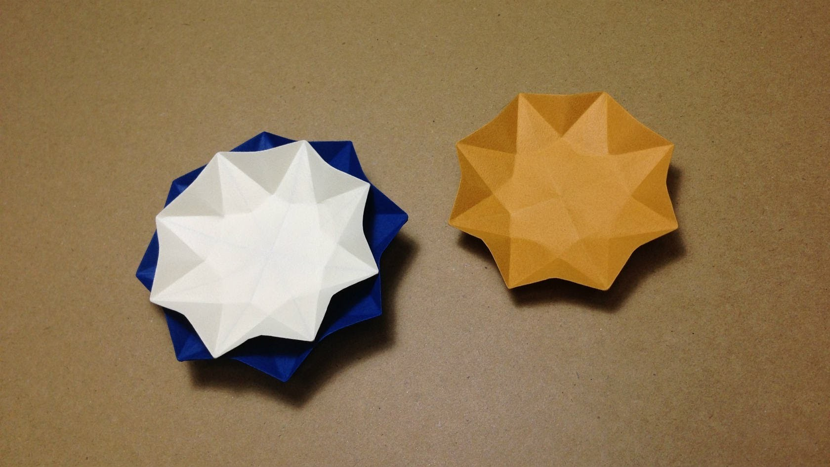 How to Make a Paper Dish . Origami Flower Plate