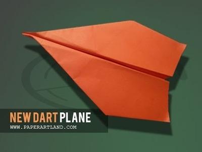 How to make a Paper Plane that flies FAR over 120 feet | New Dart