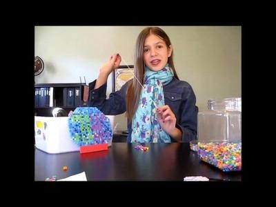 How to Make A Perler Bead Rainbow Hair Ribbon