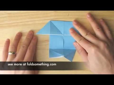 How to make an origami pajarito (small bird) from the pig (boat. windmill) base