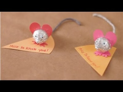 How to Make Sweet Mice - Valentine's Day Craft