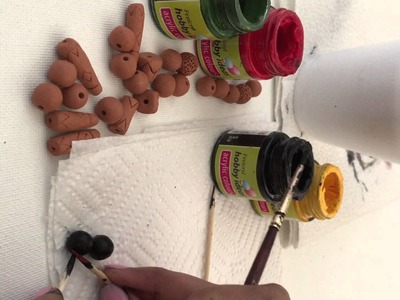 How to Paint Terracotta beads