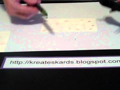 How to Use Stampin' Up! Color Spritzer Tool -  KreatesKards Tutorial