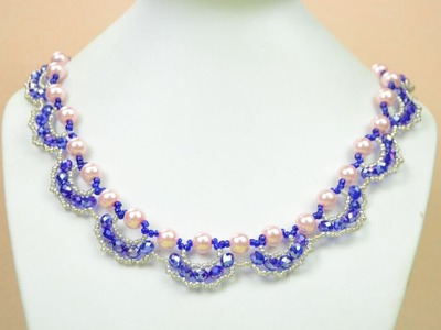 Jewelry Making Tutorial -- How to Make an Ornate Pearl and Crystal Necklace