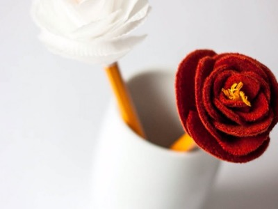 Make a Beautiful Flower Pencil Decoration - Crafts - Guidecentral