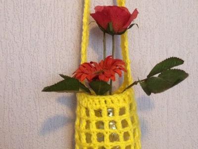 Make a Crochet Flower Vase Hanger - DIY Home - Guidecentral