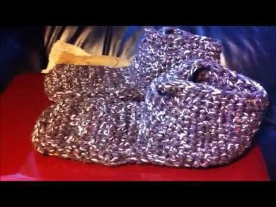 Men's Crochet Slipper Sock