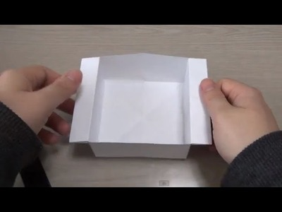 ORIGAMI (easy) convenient box (tray) How to make it