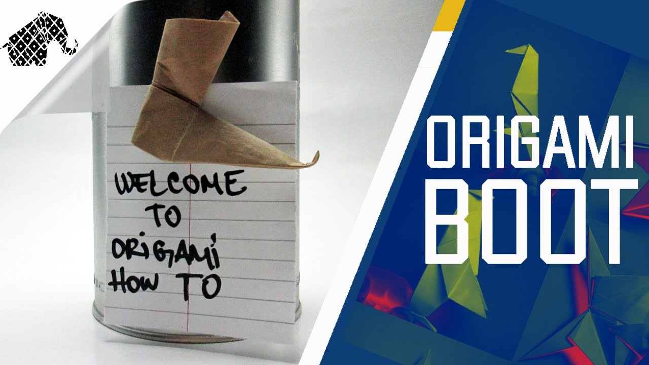 Origami - How To Make An Origami Boot - Fridge Magnet