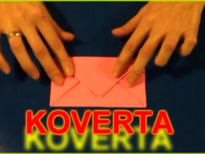 Origami: Koverta od papira - Envelope out of paper