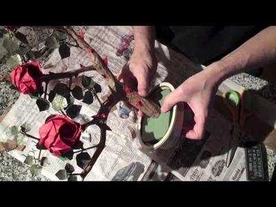 Origami Rose Bush Bonsai-5 - Assembly