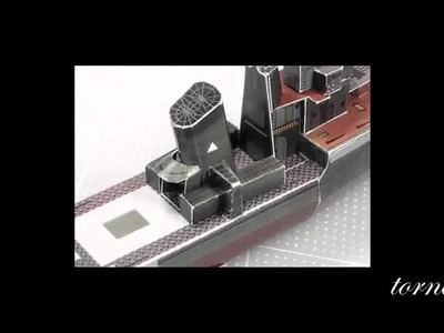 Papercraft how to build military ship