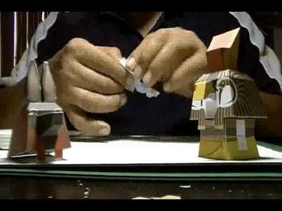 Papercraft - Time Lapse - Horus and Anubis