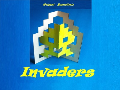 Pop Up. Origami - Papiroflexia. Space Invaders.