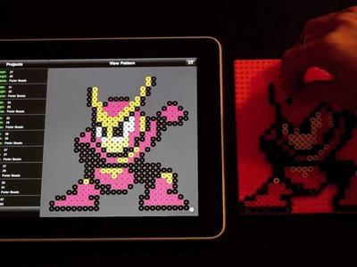 Quick Man Perler Bead Sprite using Bead It! HD on iPad