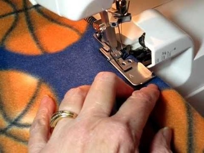 Sew.Serge A Professional Looking Fleece Blanket in 45 Minutes
