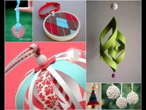 Simple DIY christmas tree decorations ideas