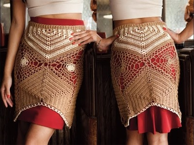 #14 Half Hexagon Skirt, Vogue Knitting Crochet 2013 Special Collector's Issue