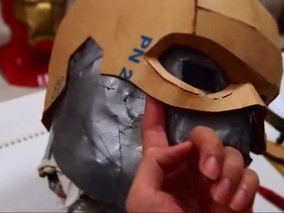 #17: Captain America Cowl DIY 1.3 - Cardboard & Hot Glue (template)