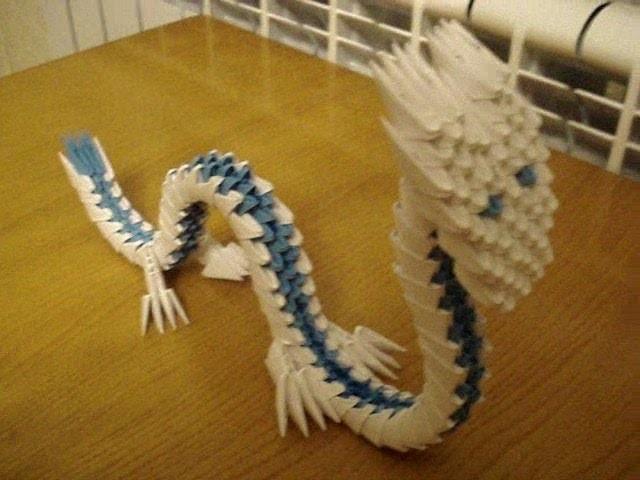 3D Origami Dragon Tutorial
